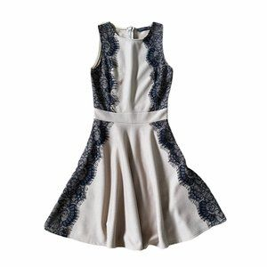 The Vintage Shop Lace Fit Flare Midi Dress Small